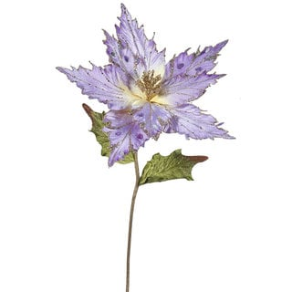Vickerman 26 inch Violet Poinsettia with 13 inch Flower (Pack of 3)