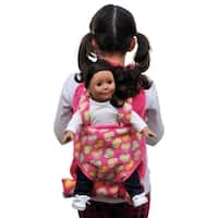 "Pink Child's Backpack with 18"" Doll Carrier & Sleeping Bag, fits 15 & 18"" Doll Accessories"