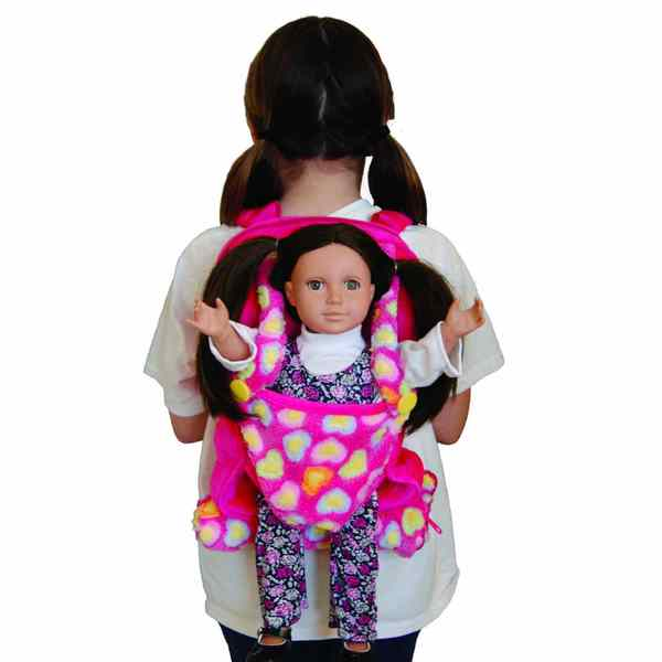 Pink Child S Backpack With 18 Quot Doll Carrier Amp Sleeping Bag