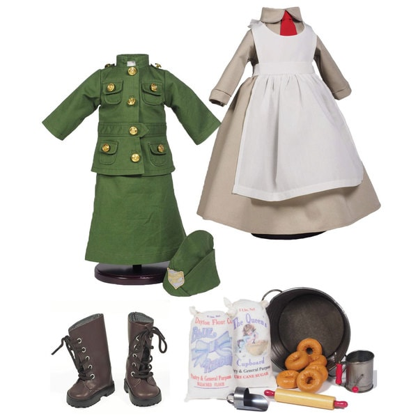 "The Queen's Treasures Salvation Army Complete Doll Clothing Outfits, Accessory Set & Shoes, Fits 18"" Dolls"