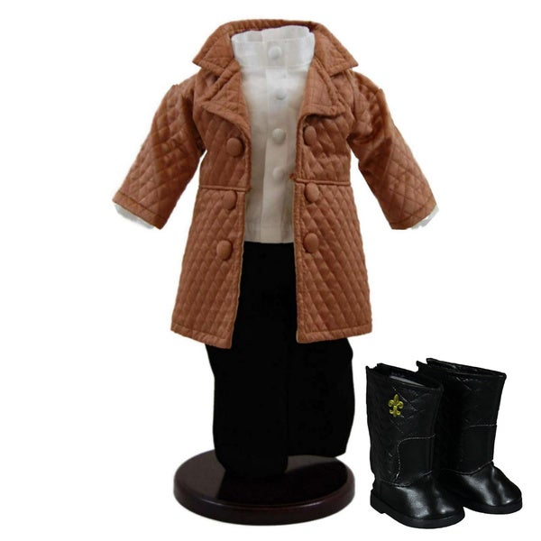 """The Queen's Treasures Madison Avenue Jacket, Shirt and Pants Doll Outfit & Shoes, Clothing & Accessories for 18"""" Girl Dolls"""