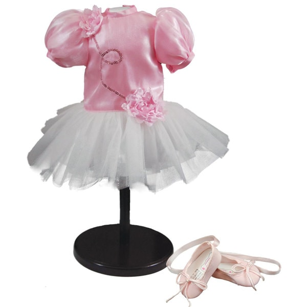 "The Queen's Treasures Pink Petal Tutu Dress Doll Clothing Outfit & Shoes, Clothes & Accessories for 18"" Girl Dolls"