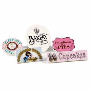 "The Queen's Treasures American Bakery Shop Signs for 18"" Doll Bake Shop Scene"