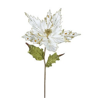 Vickerman 26-inch Cream Poinsettias with 13-inch Flowers (Pack of 3)