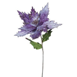 Vickerman Purple 26-inch Poinsettia With 13-inch Flower (Pack of 3)