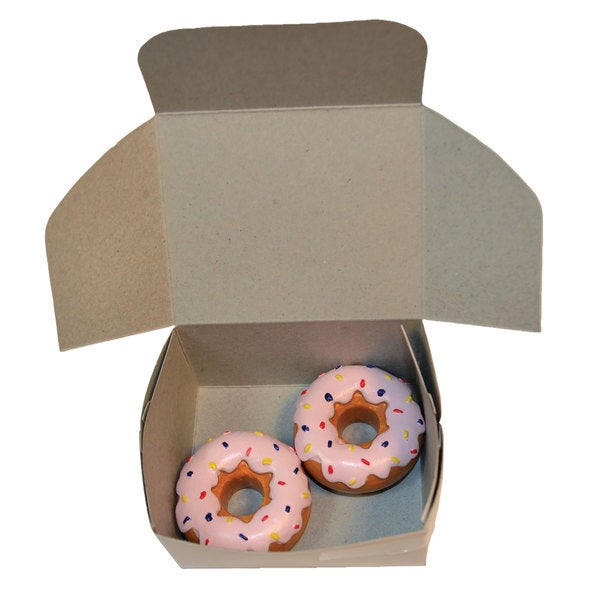 """The Queen's Treasures American Bakery Collection Set of 2 Strawberry Doughnuts Fits 18"""" Girl Doll Accessories & Food"""