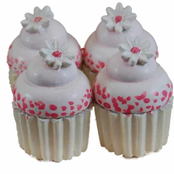 "The Queen's Treasures American Bakery Collection -Set of 4 Mini Cupcakes Fits 18"" Girl Doll Accessories & Food"
