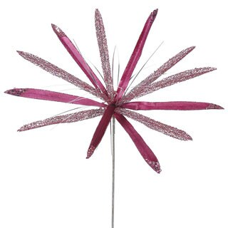 Vickerman 24-inch Mauve Papyrus with 20-inch Flower (Pack of 3)
