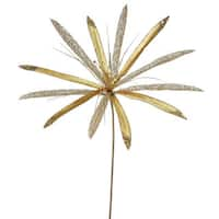 Vickerman 24-inch Gold Papyrus with 20-inch Flower (Pack of 3)