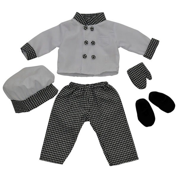 """The Queen's Treasures Complete Chef's Doll Clothing Outfit & Shoes, Clothes & Accessories for 18"""" Girl Dolls"""
