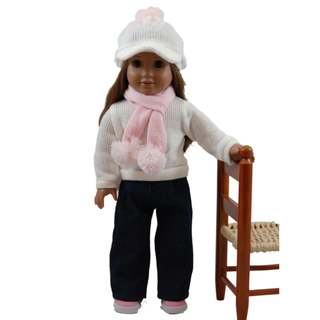 "The Queen's Treasures Jeans, Sweater Scarf & Hat Doll Clothing Outfit, Clothes & Accessories for 18"" Girl Dolls"