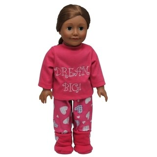 """The Queen's Treasures Dream Big Pajamas Sleepwear & Shoes Doll Clothing Outfit, Clothes & Accessories for 18"""" Girl Dolls"""