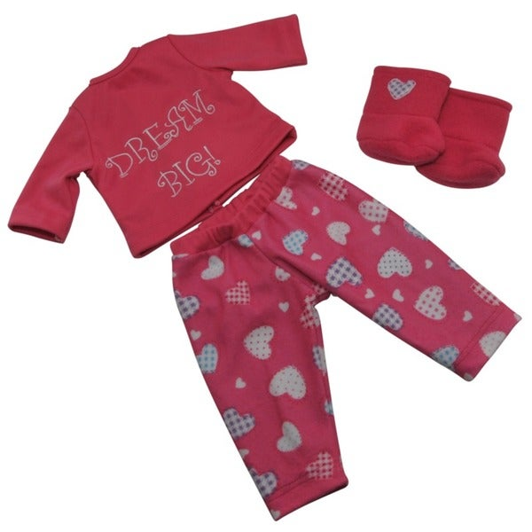 "The Queen's Treasures Dream Big Pajamas Sleepwear & Shoes Doll Clothing Outfit, Clothes & Accessories for 18"" Girl Dolls"