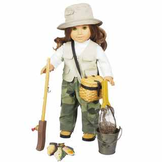The Queen's Treasures Complete Fishing Adventure 18-inch Doll Outfit with Accessories