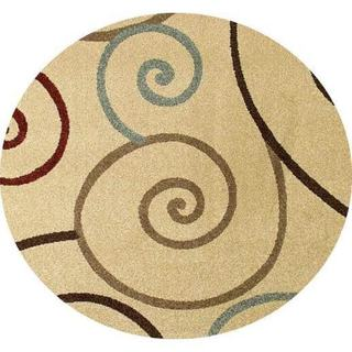 Concord Global Chester Tendrils Round Rug - 7'10 x 7'10