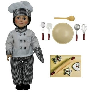 "The Queen's Treasures Complete Chef Doll Clothing Outfit & 11pc Kitchen Tool Accessory Set for 18"" Dolls"