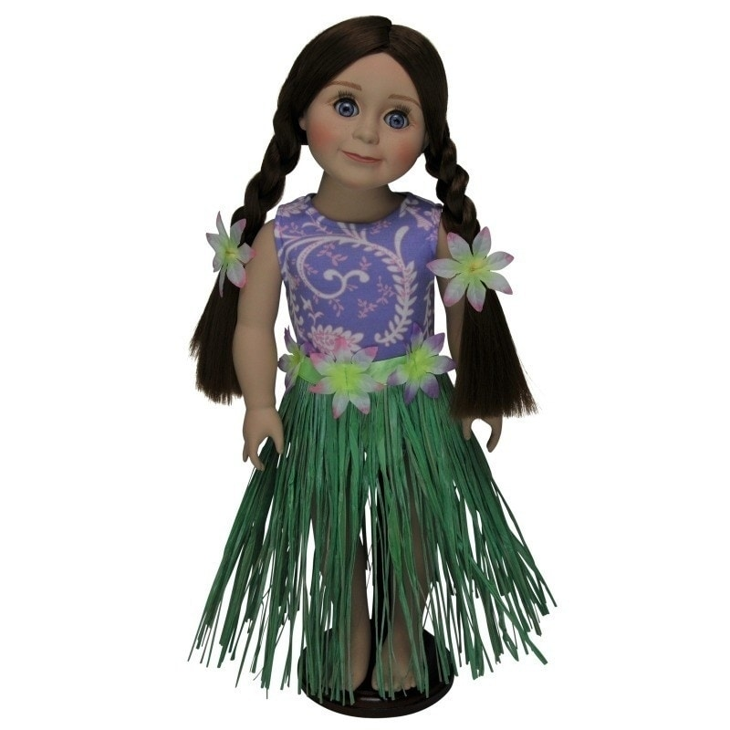 The Queen's Treasures Hula Girl Swim Doll Clothing Outfit...