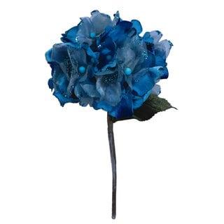 Vickerman Aqua Velvet 29-inch Hydrangea With 7-inch Flower