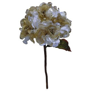 29-inch Cream Velvet Hydrangea with 7-inch Flower