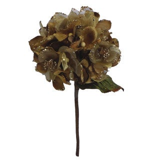 Vickerman 29-inch Gold Velvet Hydrangea with 7-inch Flower