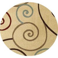 "Concord Global Chester Tendrils Area Rug - 5'3"" x 5'3"""