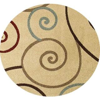 """Concord Global Chester Tendrils Round Rug - 5'3"""" x 5'3"""""""