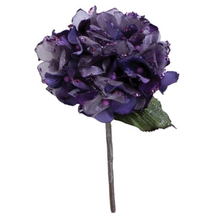 29-inch Purple Plastic Velvet Hydrangea with 7-inch Flower