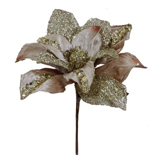 Vickerman 31-inch Champagne Glitter Magnolia with 13-inch Flower