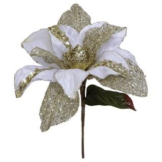Vickerman 31-inch Cream Glitter Magnolia with 13-inch Flower