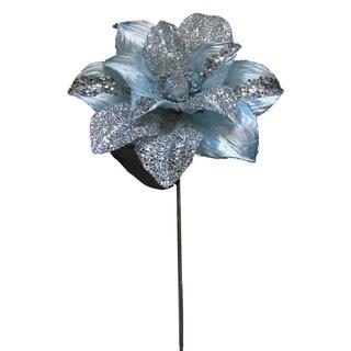 Vickerman Silver Glitter 31-inch Magnolia with 13-inch Flower