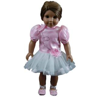 The Queen's Treasures Pink Petal Tutu Dress Doll Clothing Outfit for 18-inch Dolls
