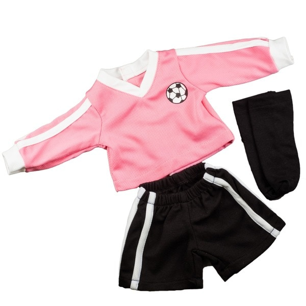 "The Queen's Treasures Soccer Shorts, Jersey and Socks Doll Clothing Outfit, Clothes & Accessories for 18"" Girl Dolls"