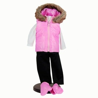 The Queen's Treasures Winter Fun Pink Doll Clothing Outfit