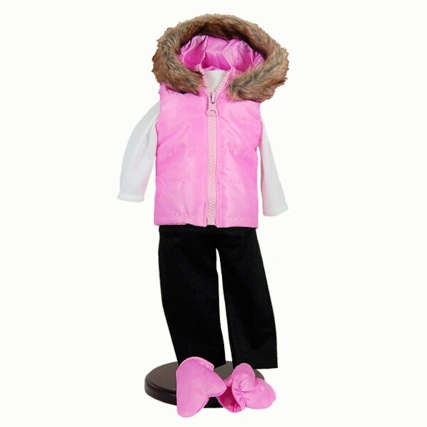 """The Queen's Treasures Pink Winter Fun Doll Clothing Outfit, Clothes & Accessories for 18"""" Girl Dolls"""