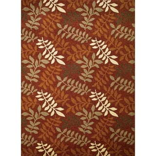 Chelsea Collection Fern Polypropylene Rug (5'3 x 7'7)