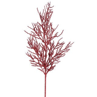 28-inch Red Glitter Wild Huck Spray (Pack of 6)