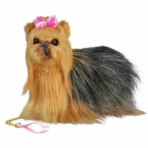 """The Queen's Treasures Doll's Best Friend, Yorkie Puppy Dog Pet, Accessory for 18"""" Dolls"""