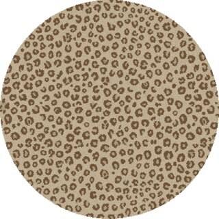 Mod Collection Safari Ivory Polypropylene Rug (6'7x 6'7)