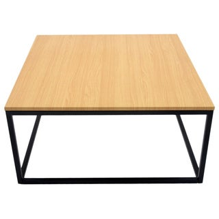 US Pride Furniture Wooden MDF Top Metal Frame Coffee Table