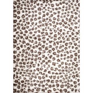 Mod Collection Safari Ivory Polypropylene Rug (6'7 x9'3 )