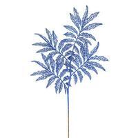 22-inch Blue Glitter Sumac Spray (Pack of 6)