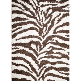Mod Collection Exotic Brown Polypropylene Rug (5' x 7')