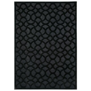 Nourison Ultima Black Area Rug (2'2 x 3'9)
