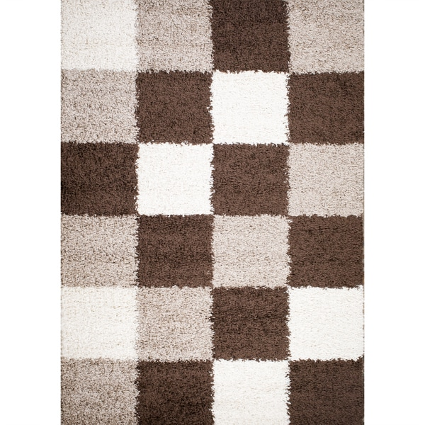 Mod Collection Solid Shag Polypropylene Rug (3'3X4'7) - 3'3 x 4'7