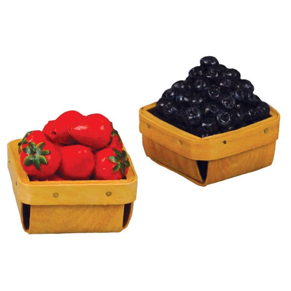 """The Queen's Treasures Strawberry and Blueberry Baskets for 18"""" Dolls and 18"""" Doll Accessories"""