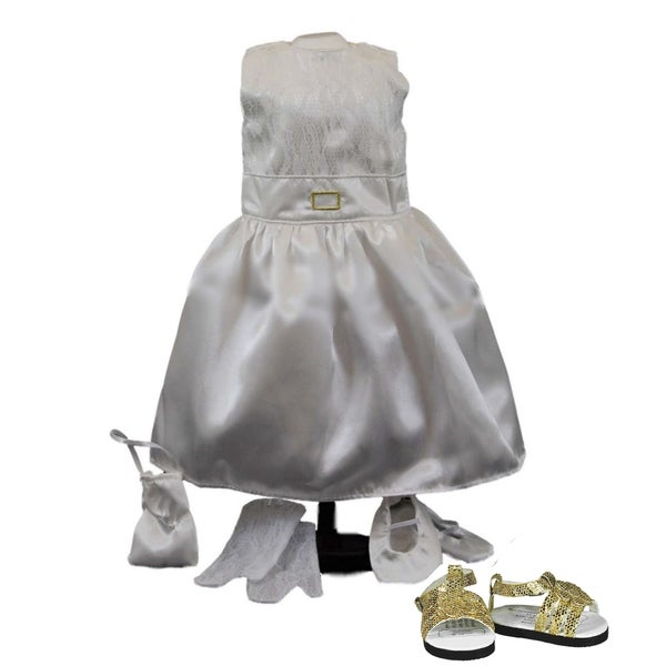 """The Queen's Treasures Gala Party Ball Outfit and Shoes, Doll Clothes Fit 18"""" Girl Doll"""