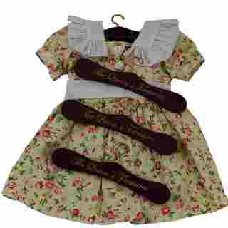 """The Queen's Treasures Set of 4 Wooden Doll Clothes Hangers for 18"""" Doll Clothing"""