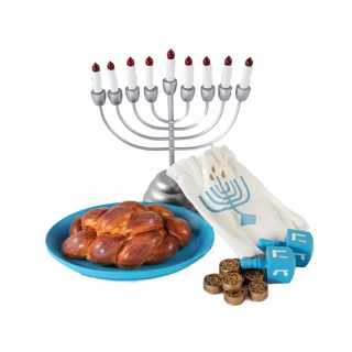 The Queen's Treasures 21-piece Hanukkah Play Accessory Set for 18-inch Dolls