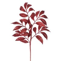 Vickerman Red Plastic 17-inch Camellia Glitter Spray (Pack of 6)