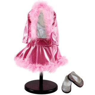 "The Queen's Treasures Pink Sparkle Ice Skating Dance Doll Clothing Outfit & Shoes, Clothes & Accessories for 18"" Girl Dolls"